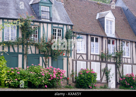 Timber-framed buildings in Gerberoy Village, France - Stock Photo
