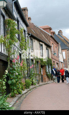 Street scene in Gerberoy Village, France - Stock Photo