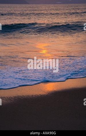 Beach at sunrise Nha Trang Vietnam - Stock Photo