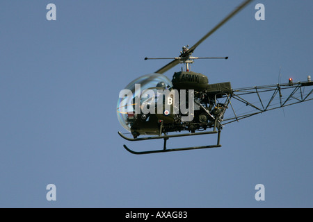 British Army Air Corps Historic Flight Agusta Bell XT131 Bell Sioux RIAT 2005 RAF Fairford Gloucestershire England - Stock Photo