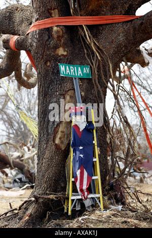 Damage caused by the Hurricane Katrina, Gulfport, USA