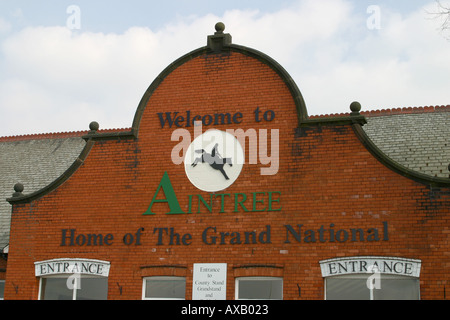 Aintree racecourse in Liverpool home of the Grand National - Stock Photo