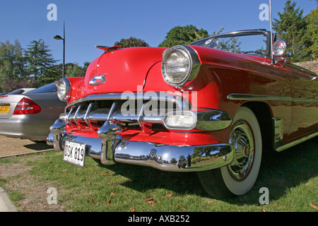 1954 Red Chevrolet - Stock Photo
