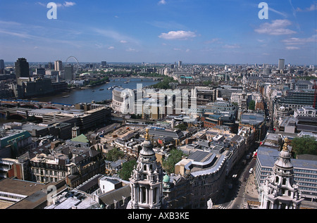View from St.Pauls on London, London, England, Great Britain - Stock Photo