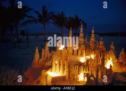 Sand Castle Miami Beach Florida USA