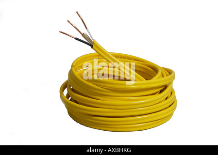 Three conductor Romex wire cable electric house hot ground copper ...