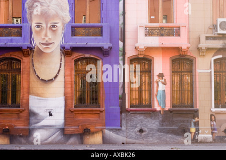 Strikingly painted house - Stock Photo