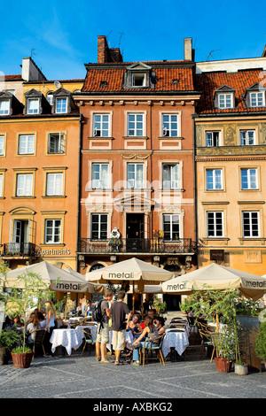 Old Town Square, Warsaw, Poland - Stock Photo
