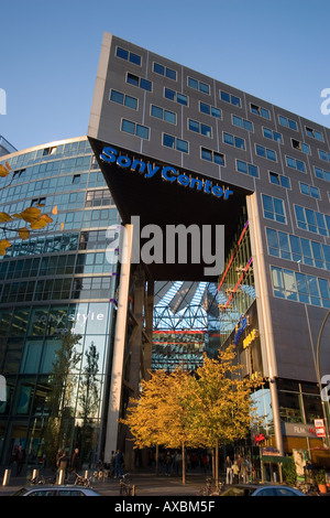 Berlin Potsdamer Platz Sony Center in autumn - Stock Photo