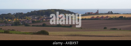 Panoramic View from Kelling Heath towards Weybourne - Stock Photo