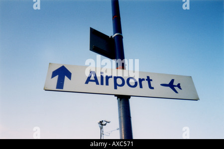 Airport sign Southampton England - Stock Photo