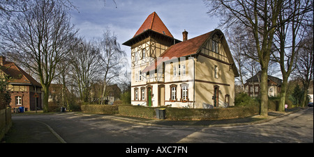 view on the old colony Eving, Germany, North Rhine-Westphalia, Ruhr Area, Dortmund - Stock Photo