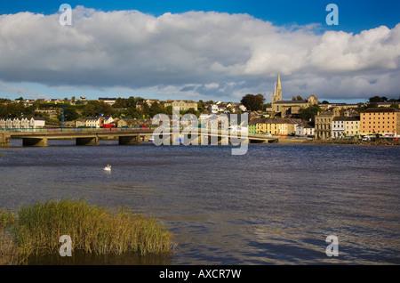 Modern Bridge over the River Barrow, New Ross, County Wexford, Ireland - Stock Photo