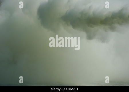 The smoke of C02 or Dry Chemical from an extinguisher - Stock Photo