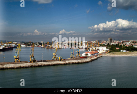 Aerial view of the Port of Burgas  as in 2005 ,Burgas,Bulgaria - Stock Photo