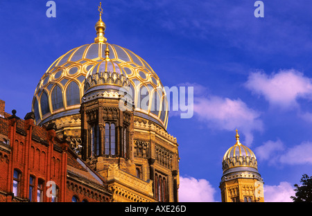 Golden dome of Synagogue Oranienburger Strasse Berlin Germany - Stock Photo
