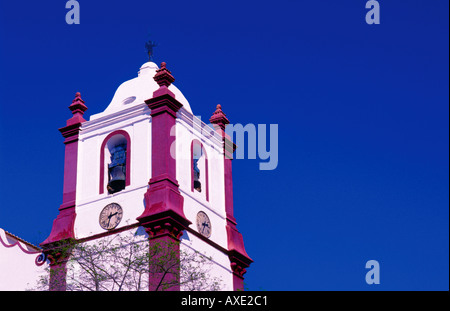 Tower of the cathedral Se Catedral Silves Algarve Portugal - Stock Photo