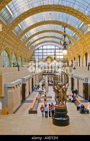 Interior views of the Musee d Orsay Paris France A musem of arts in a converted railway station - Stock Photo