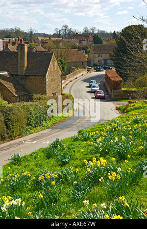 Spring time in Lacock village Wiltshire England UK EU - Stock Photo