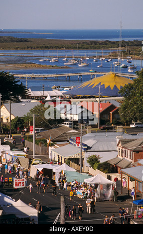 Queenscliff Music Festival Port Phillip Bay Bellarine Peninsula Victoria Australia vertical  - Stock Photo