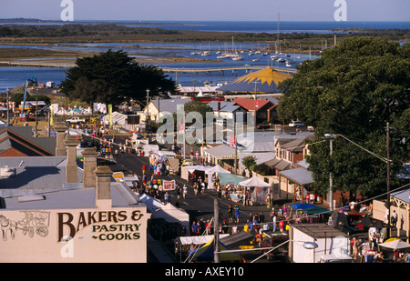 Queenscliff Music Festival Port Phillip Bay Bellarine Peninsula Victoria Australia horizontal  - Stock Photo