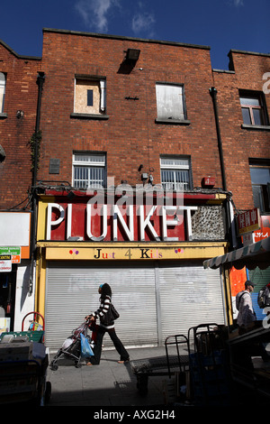 Moore Street, Dublin - Stock Photo