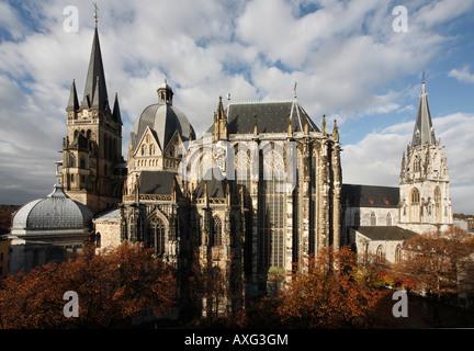 Aachen, Münster (Pfalzkapelle), Aachener Dom - Stock Photo