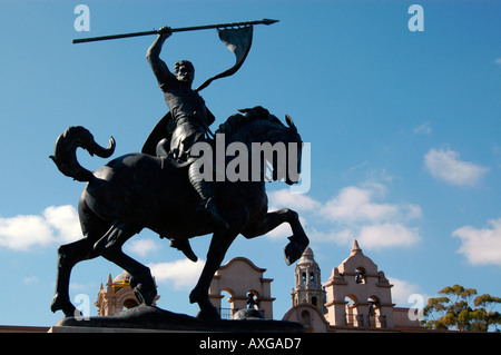 The El Cid sculpture, by artist Anna Hyatt Huntington,  Balboa Park, San Diego, California, USA - Stock Photo