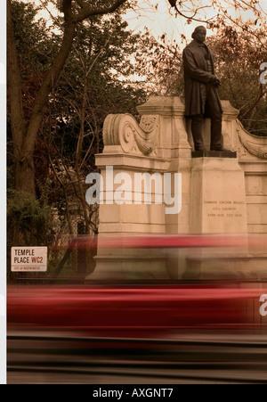 Isambard Kingdom Brunel statue on the embankment London UK - Stock Photo