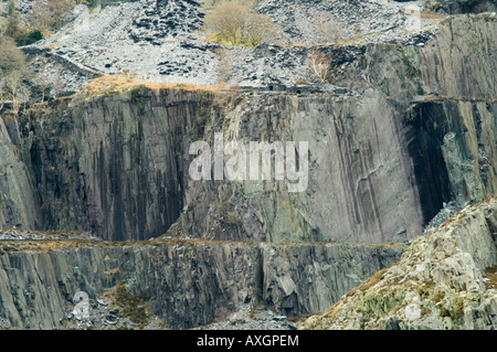 Llanberis Slate Quarry Remains near the entrance to the Electric Mountain - Stock Photo