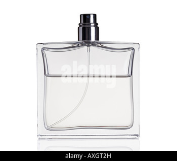 Bottle of Perfume Against a White Background - Stock Photo