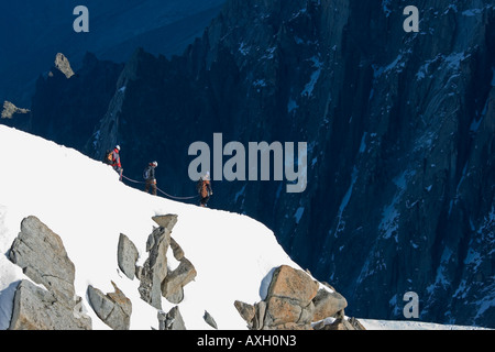 Top of the Aiguille du Midi France. - Stock Photo