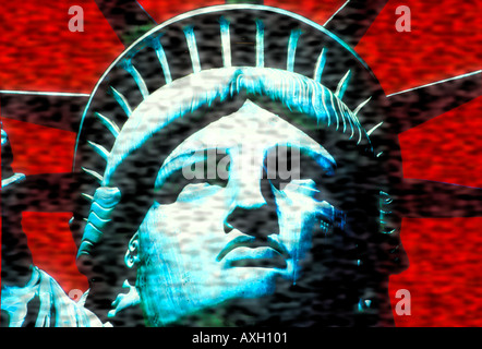 abstract rendition of Statue of Liberty USA concept Stock Photo
