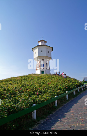 Water tower on the East Frisian island of Langeoog - Stock Photo