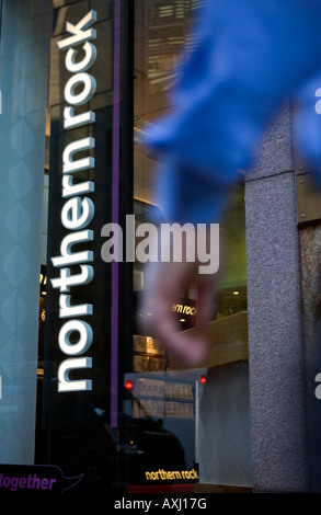 Northern Rock branch in London. - Stock Photo