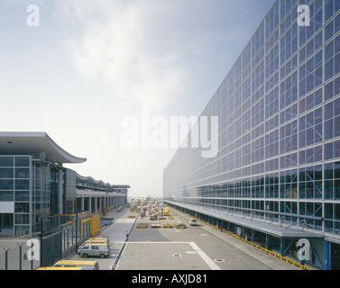 HACTL SUPERTRMINAL EXPRESS BUILDING CHEK LAP KOK AIRPORT - Stock Photo