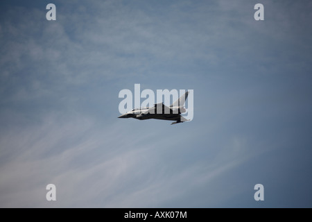 Eurofighter Typhoon aircraft on flying display at Farnborough International Airshow July 2006 - Stock Photo