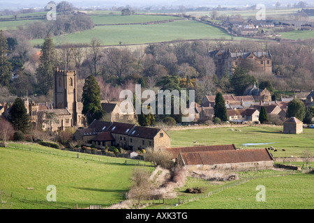 View of Montacute village near Yeovil in Somerset - Stock Photo