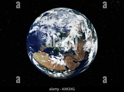 satellite image of planet earth - Stock Photo