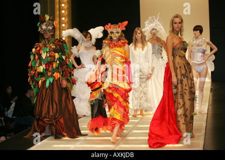 Models on the catwalk at the Clothes Show NEC Birmingham December 2005 - Stock Photo
