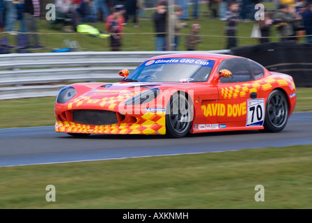 Ginetta G50 Sports Racing Car in Ginetta G50 Cup at Oulton Park Motor Race Circuit Cheshire England United Kingdom - Stock Photo