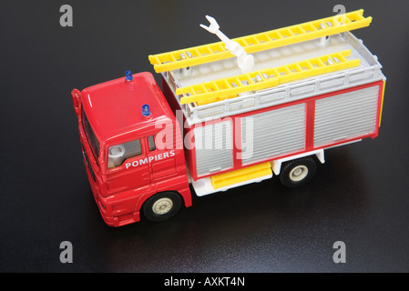 Toy fire engine, close-up - Stock Photo