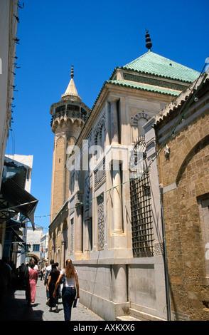 Tunis the Hammouda Pacha Mosque and Mausoleum - Stock Photo