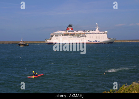 A stena line ferry at fishguard harbour goodwick west - Rosslare ferry port arrivals ...