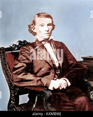 Hand tinted photo of Alexander H Stephens - Vice President of the Confederate States of America - US Civil War - Stock Photo