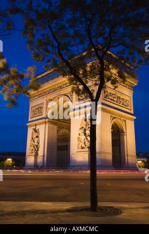 Arc de Triomphe in Paris - Stock Photo