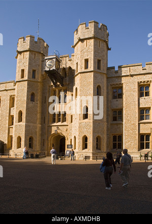 'The Tower of London' - 'Jewel House' in which the 'Crown Jewels' are kept - Stock Photo