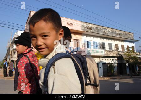 Children, Luang Prabang, Laos - Stock Photo