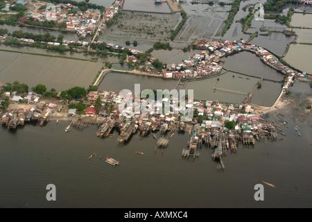 Aerial view of shoreline near Manila Philippines Stock Photo