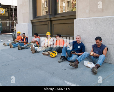 New York City Workmen In The Tunnels During The